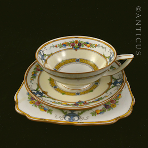 Hand Painted Minton Cup, Saucer and Plate.