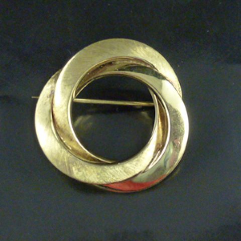 14ct Gold Brooch, Circles.