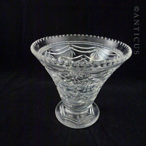 Good Quality Crystal Trumpet Vase, 1930s.