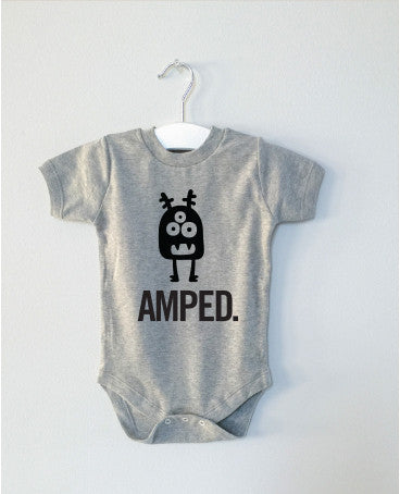 AMPED monster onesie