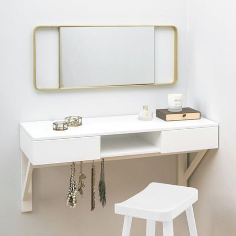 floating dressing table with jewellery