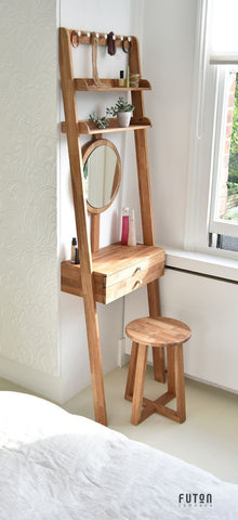 tall wooden dressing table