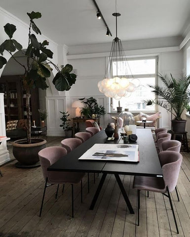 pink dining chairs