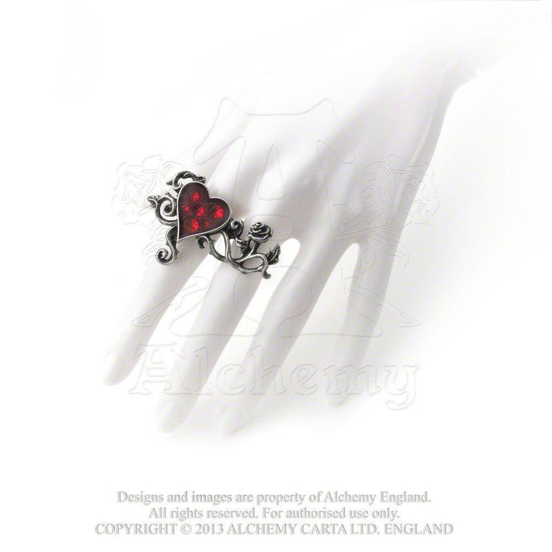 Bed Of Blood Roses Ring- Pewter