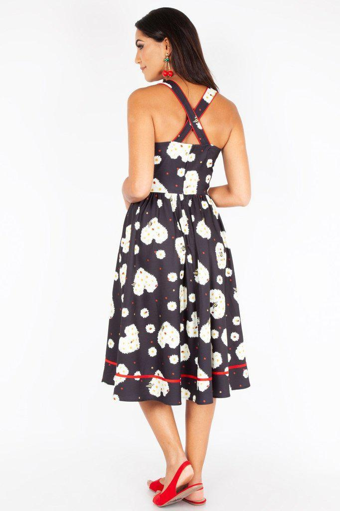 Daisy Hearts Flared Dress