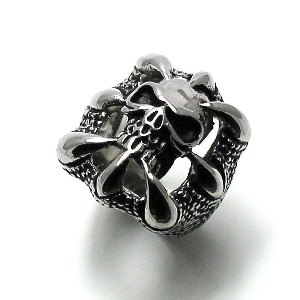 Skull in Claws Ring - Stainless Steel