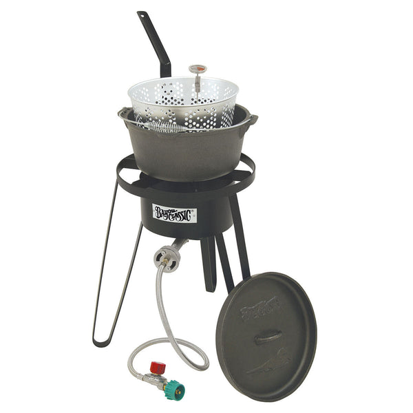 Bayou Classic Cast Iron Deep Fryer Cooking Kit