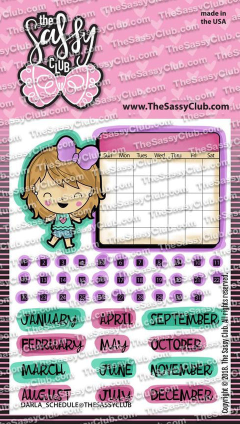 Darla Schedules - Clear Stamps by The Sassy Club