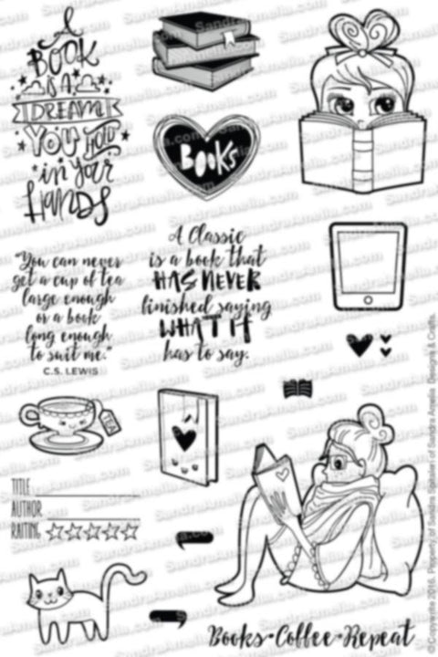 Read Laugh Love - Clear Stamps by The Sassy Club