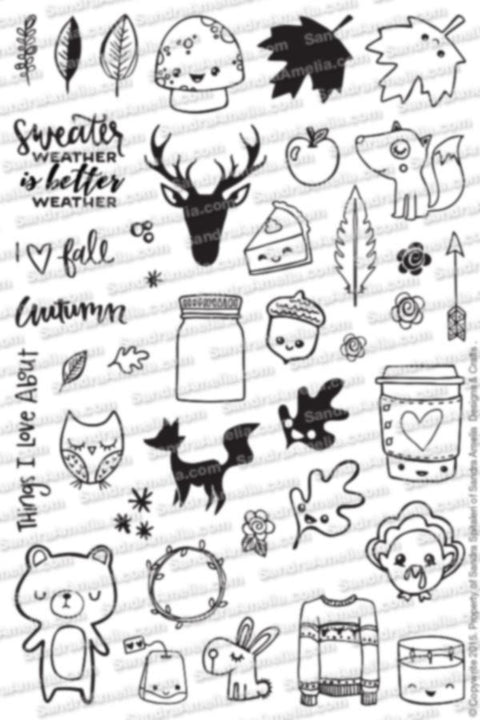 Fall Planner Doodles - Clear Stamps by The Sassy Club