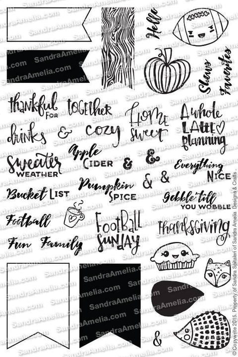A Latte Planning - Clear Stamps by The Sassy Club