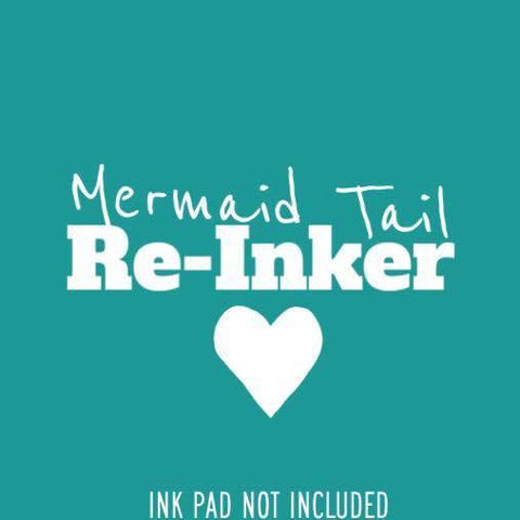 Mermaid Tail Re-inker (Not An InkPad) - Clear Stamps by The Sassy Club