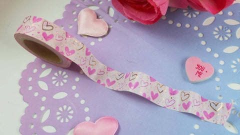 Sassy hearts washi tape - Clear Stamps by The Sassy Club