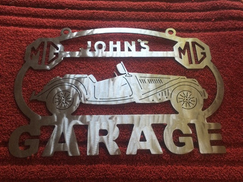 MG MGA 53-54 Metal Garage sign Custom Personalized shop sign