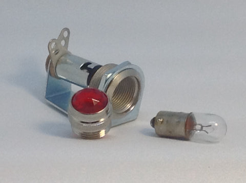 Tube Amp Pilot Light Assembly with Red Jewel and Number 47 Bulb Made In USA