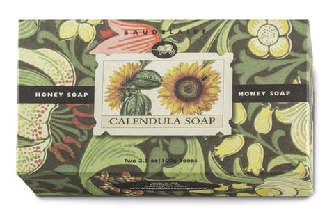 Baudelaire Honey Calendula 2-Bar Soap Gift Set