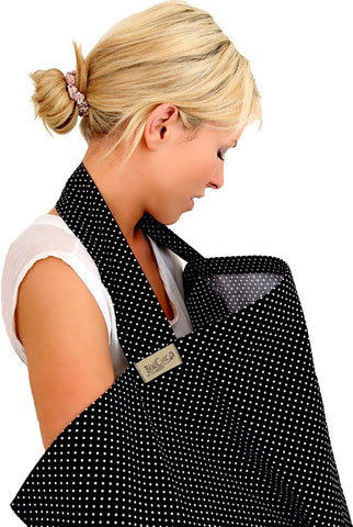 dot breastfeeding cover - black / white