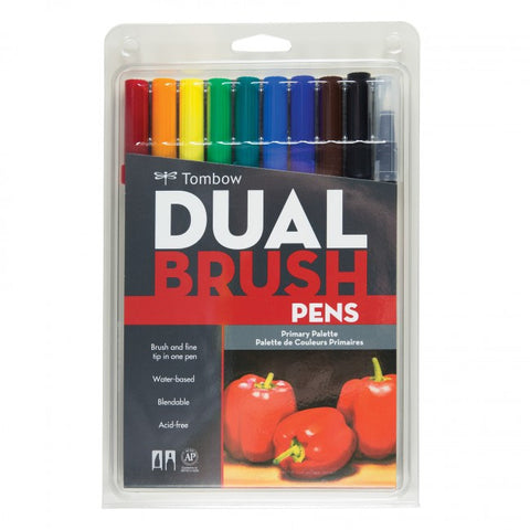 Tombow Dual Brush Pen Primary Set