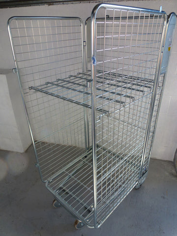 3 side mesh cage with shelf