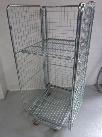 4 sided mesh cage with shelf - Refurbished