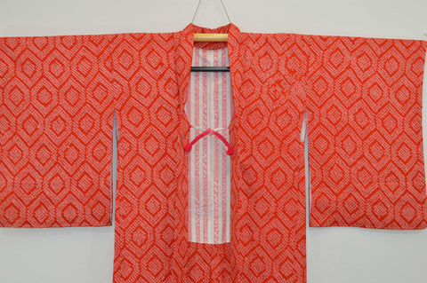 Fully Shibori Red Fortune Hexagon