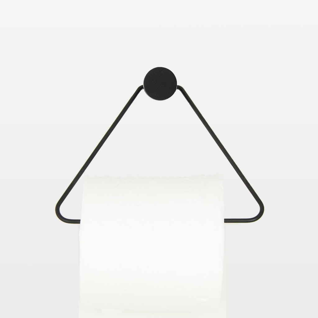 Black Triangle Toilet Paper Holder