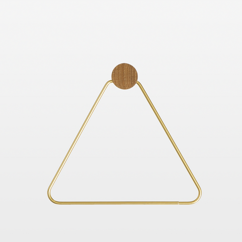 Brass Triangle Toilet Paper Holder