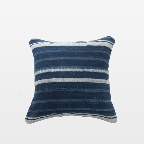 Indigo Stripe Square Pillow