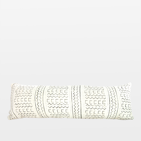 Blanca 02 Mudcloth Extra Long Lumbar Pillow