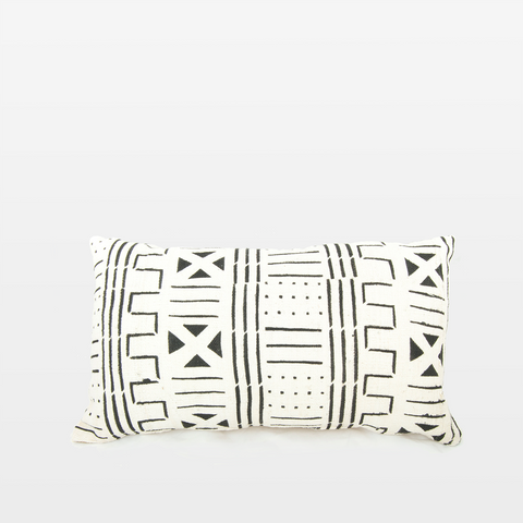 Blanca 03 Mudcloth Rectangle Pillow