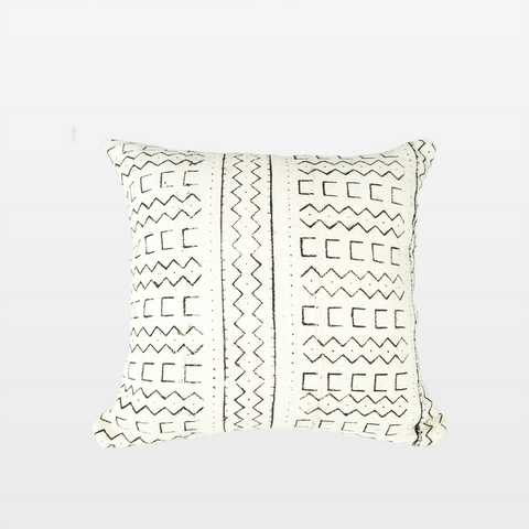 Blanca 02 Mudcloth Square Pillow