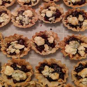 Fig and Blue Cheese Tarts