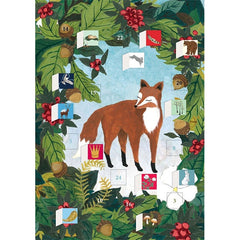 Fox & Hare Advent Calendar Card