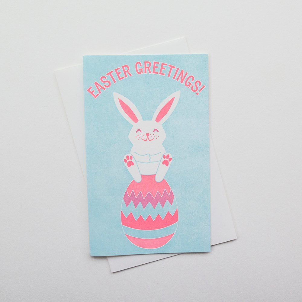 Easter Greetings Bunny Card