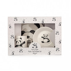 Harry Panda Bowl, Cup, and Plate