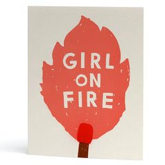 Girl On Fire Card