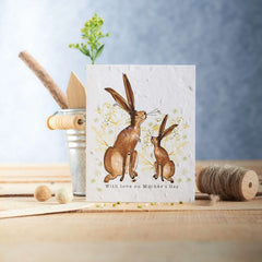 With Love on Mother's Day Bunny Seed Card