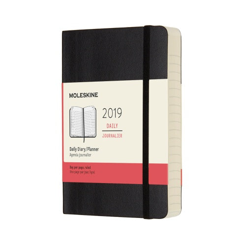 2019 Moleskine Pocket Daily Planner Softcover Black