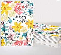 Happy Easter Floral Pack of Ten Cards