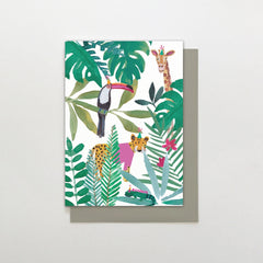 In the Jungle Animals Card