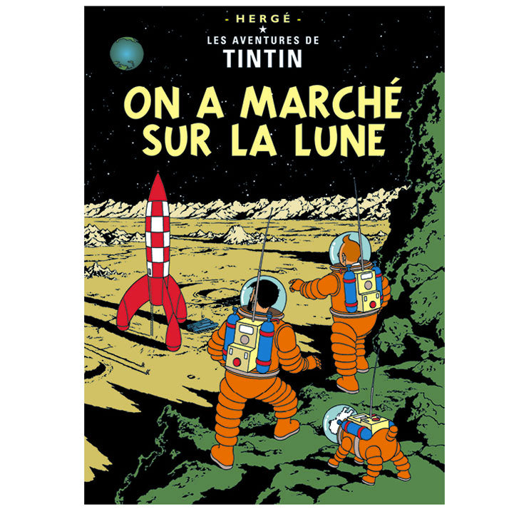 Explorers on the Moon Tintin Poster