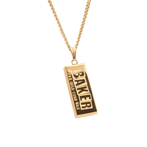 Curb Wax Gold Necklace