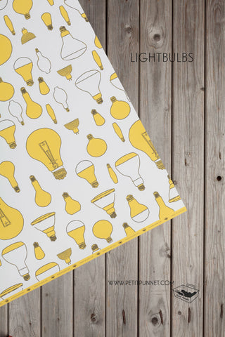 Graphic Series Wrapping Paper 'Lightbulbs' - Pack of 2