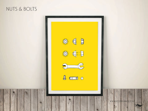 Petit Punnet 'Nuts and Bolts'Poster