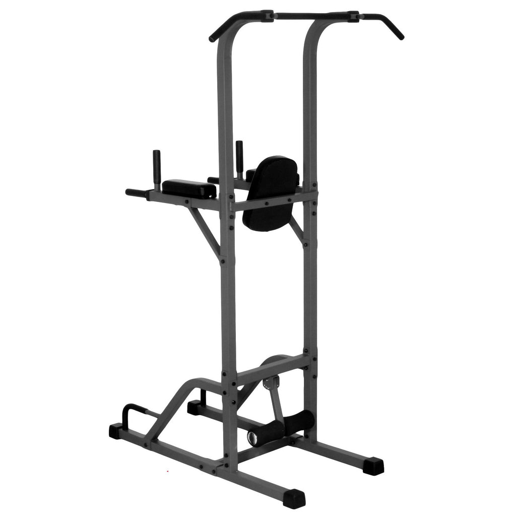 Back - XMark VKR Vertical Knee Raise With Dip And Pull-up Station Power Tower XM-4432