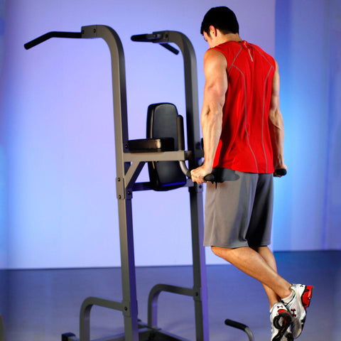 Image of Back - XMark VKR Vertical Knee Raise With Dip And Pull-up Station Power Tower XM-7617