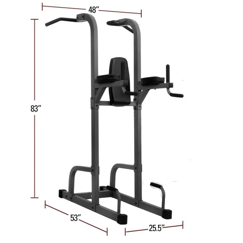 Back - XMark VKR Vertical Knee Raise With Dip And Pull-up Station Power Tower XM-7617
