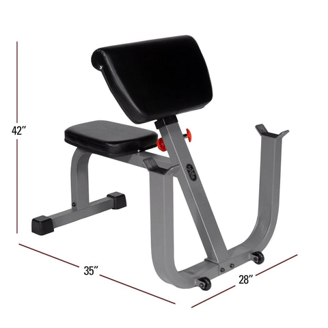Bench - XMark Seated Preacher Curl Weight Bench XM-4436