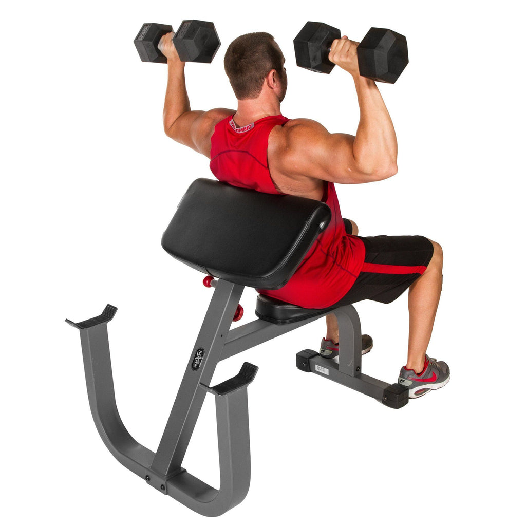 Bench - XMark Seated Preacher Curl Weight Bench XM-7612