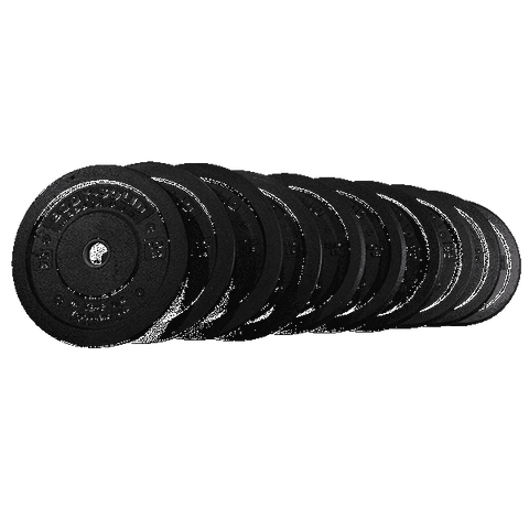 Image of 260LB Bumper Plate Set, PAIRS 10,15,25,35,45 - Fitness Gear